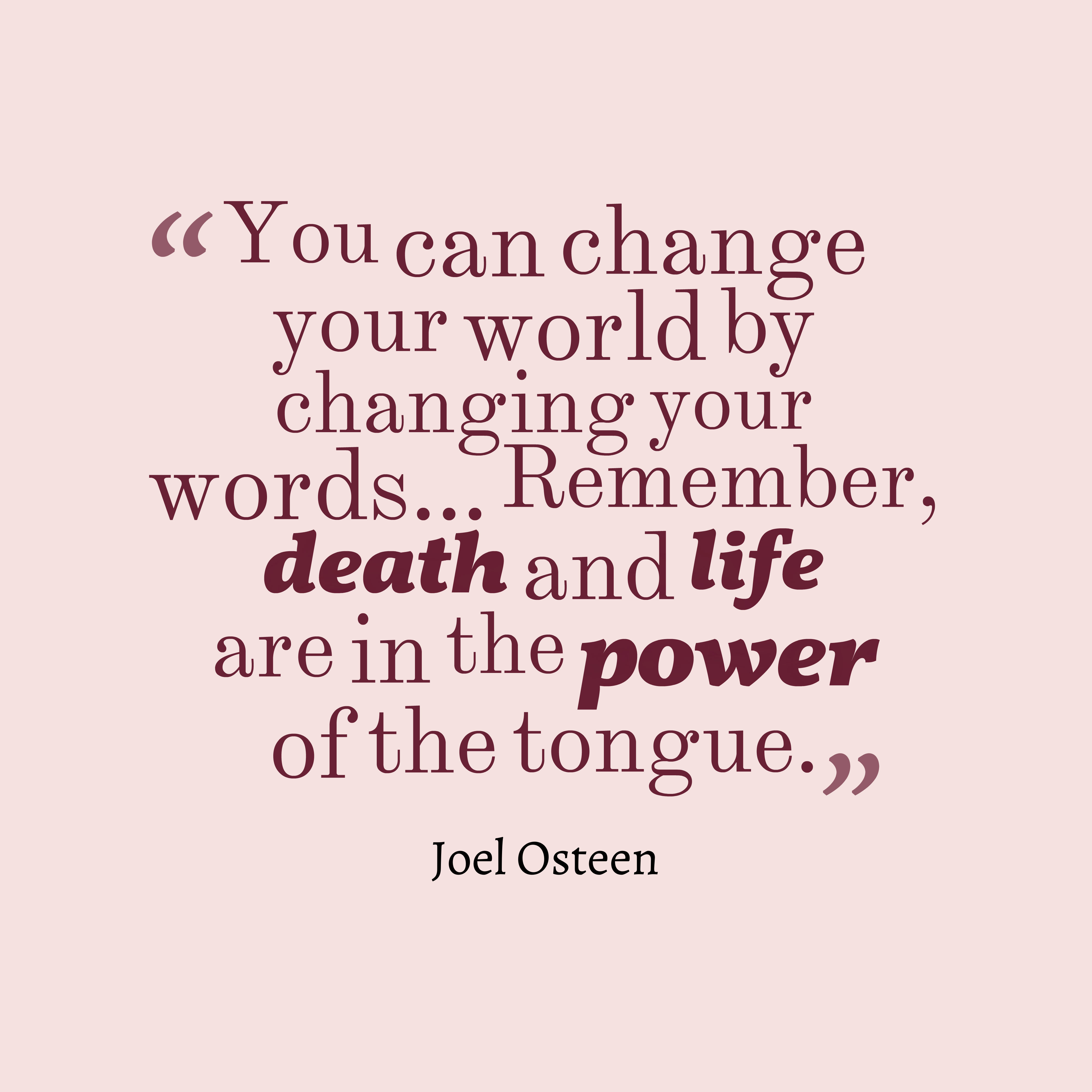 Picture » Joel Osteen Quote About Change